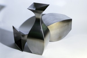 vases acier inoxydable de design metal fabrication david enjalbert