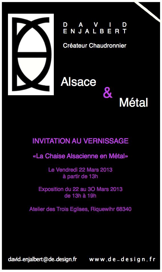 David Enjalbert Créateur chaudronnier/ Chaises Alsacienne en Acier et en Aluminium
